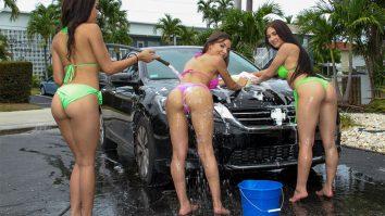 bffs carwash fundraisers Crystal Rae & Maya Bijou