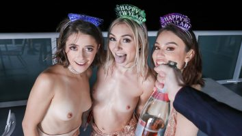 New Years Cumdown Chloe Temple Paris White and Liv Wild