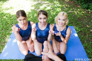 bffs_gymnasdicks_training_Kenzie Madison, Katie Kush and Lea Lee